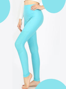 WOMEN'S MOTO LEGGINGS - MINT