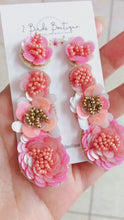 Load and play video in Gallery viewer, pink flower earrings