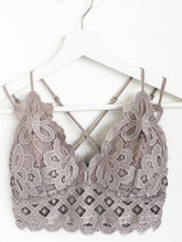 Load image into Gallery viewer, BLOSSOM BRALETTE (FEATHER GRAY)