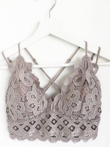 BLOSSOM BRALETTE (FEATHER GRAY)