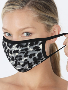washable mask leopard print