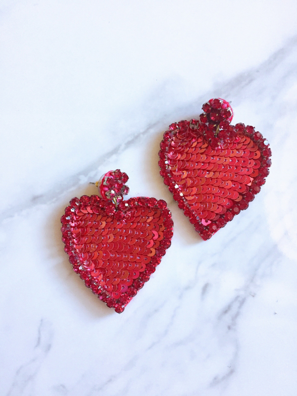 GIVE YOU MY HEART SEQUINS EARRINGS