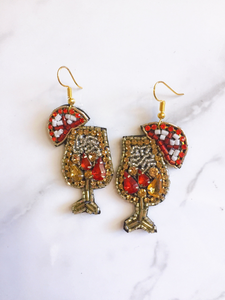 COCKTAIL BEADED EARRINGS