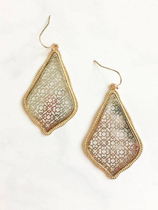 gold silver teardrop earrings