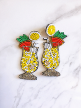 Load image into Gallery viewer, COCKTAIL BEADED EARRINGS