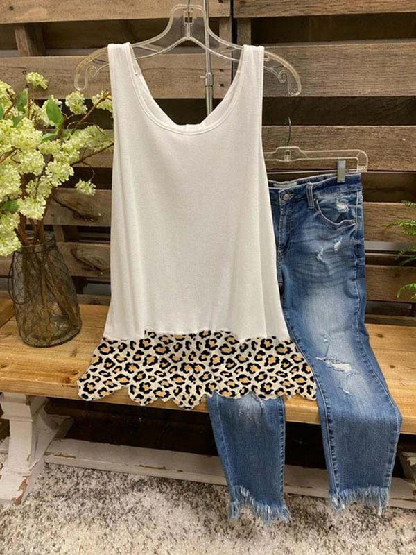Casual Sleeveless Cotton-Blend Vests