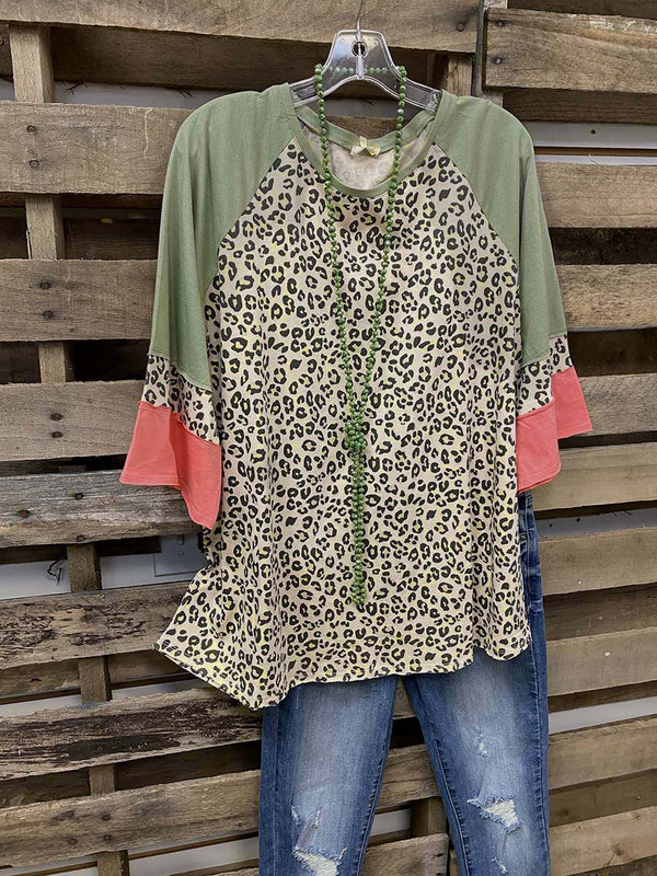 Casual Shift Leopard Shirts & Tops