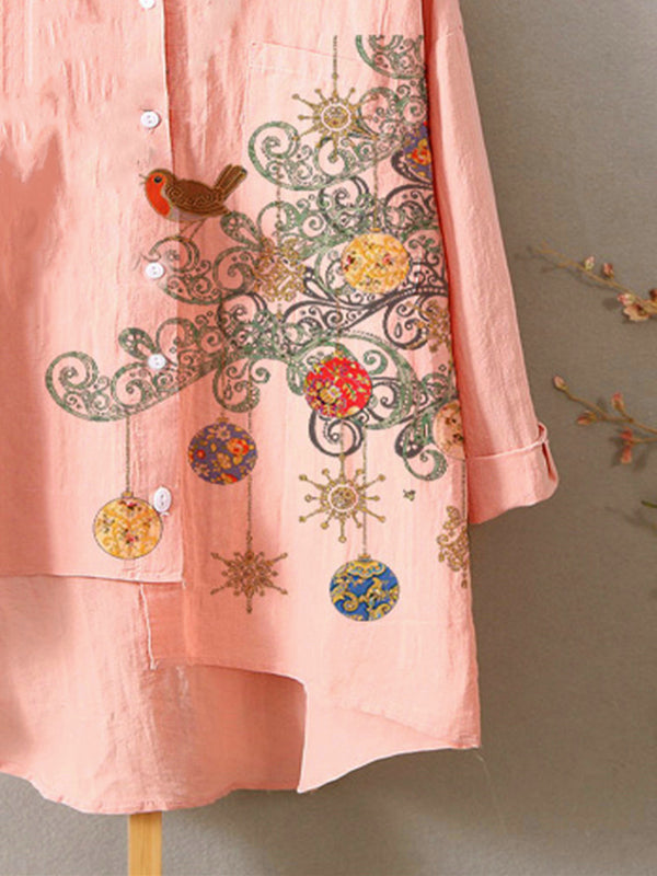 Pink Sweet Cotton-Blend Shirts & Tops