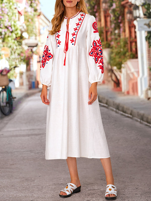 Tribal Vintage Long Sleeve Dresses