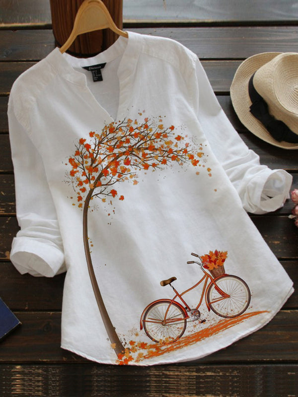 White Vintage Cotton-Blend Shirts & Tops