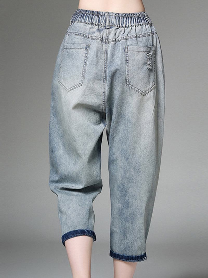 Casual Jeans Shift Pants