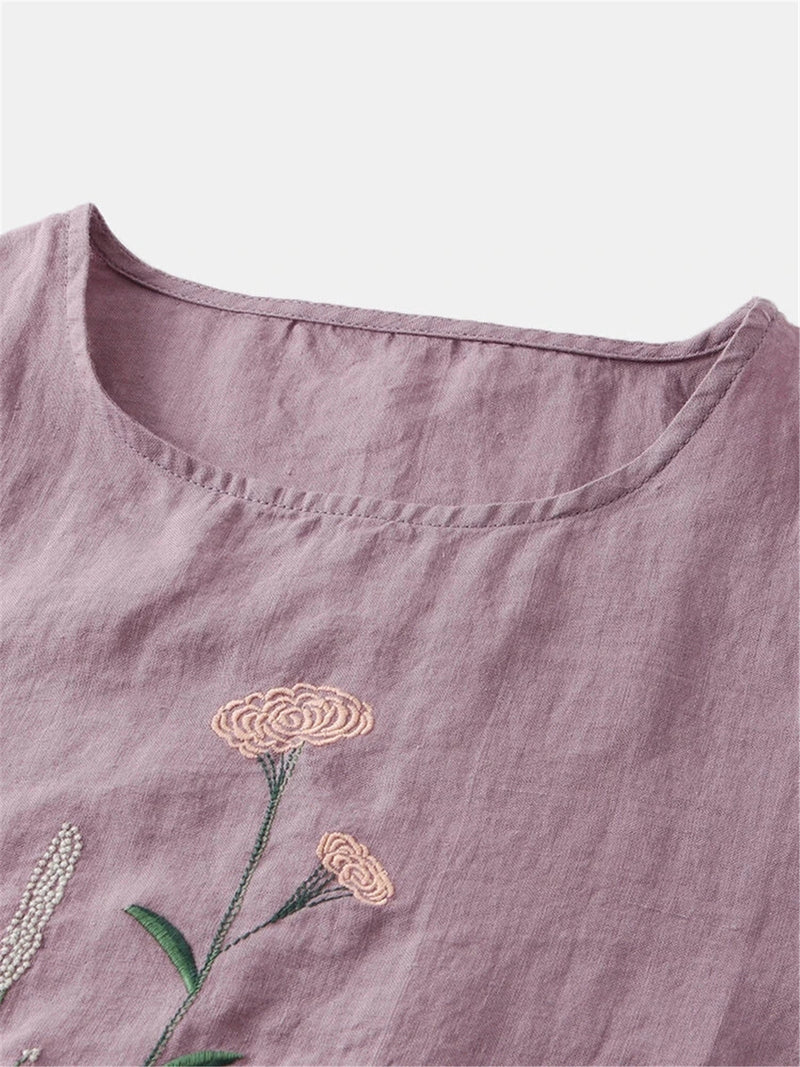 Casual Short Sleeve Floral Shirts & Tops