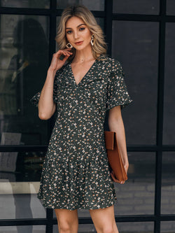 Green Floral Holiday Dresses