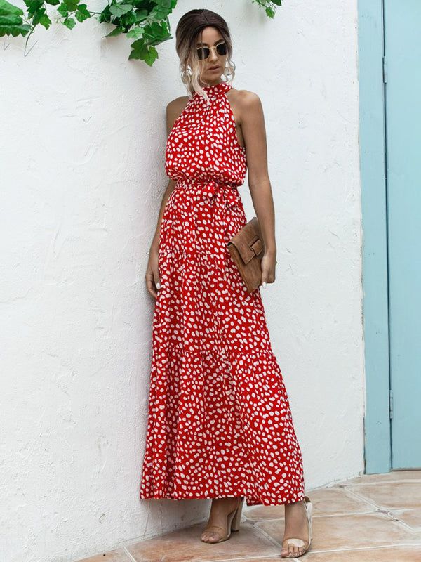 Graphic Printed Boho Holiday Maxi Dress