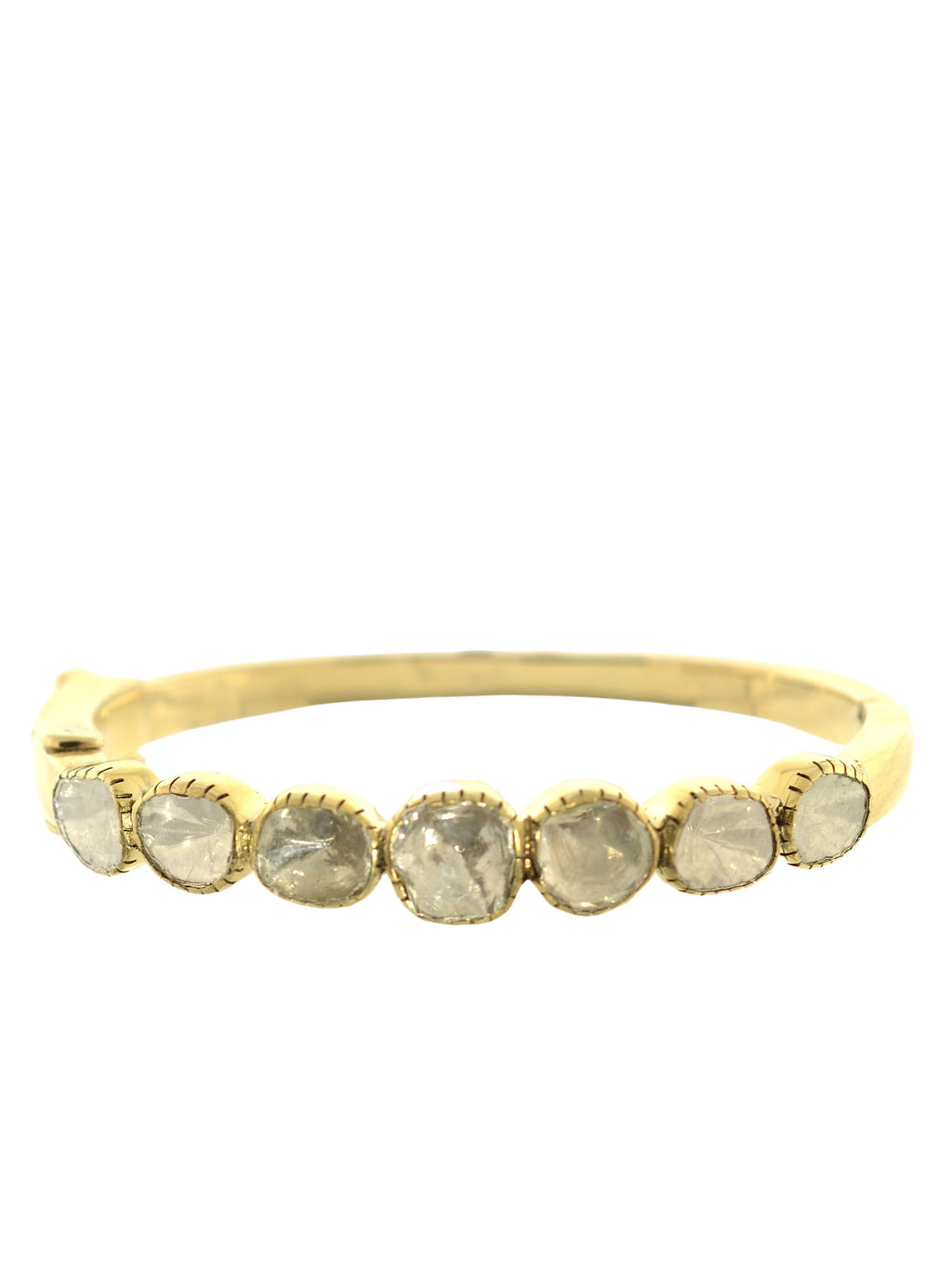 Rose Cut Diamond Brass Bangle