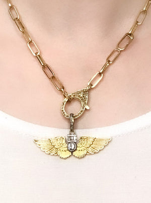 Brass Small Wings Pendant