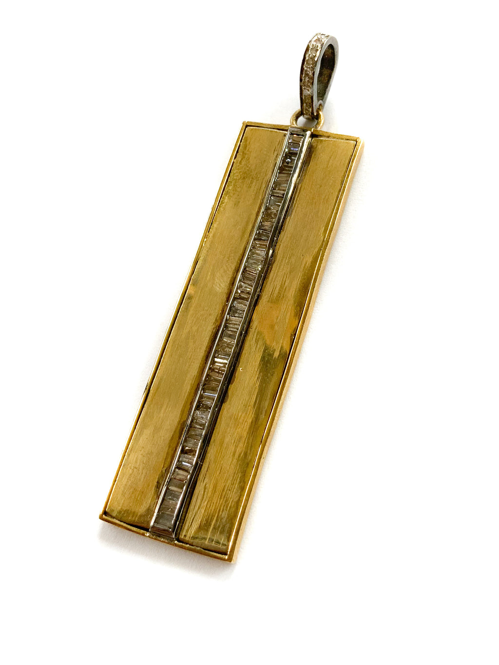Brass Baguette Center Bar Pendant