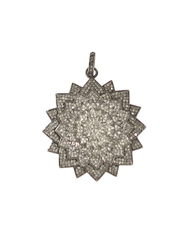 Pave Diamond Flower