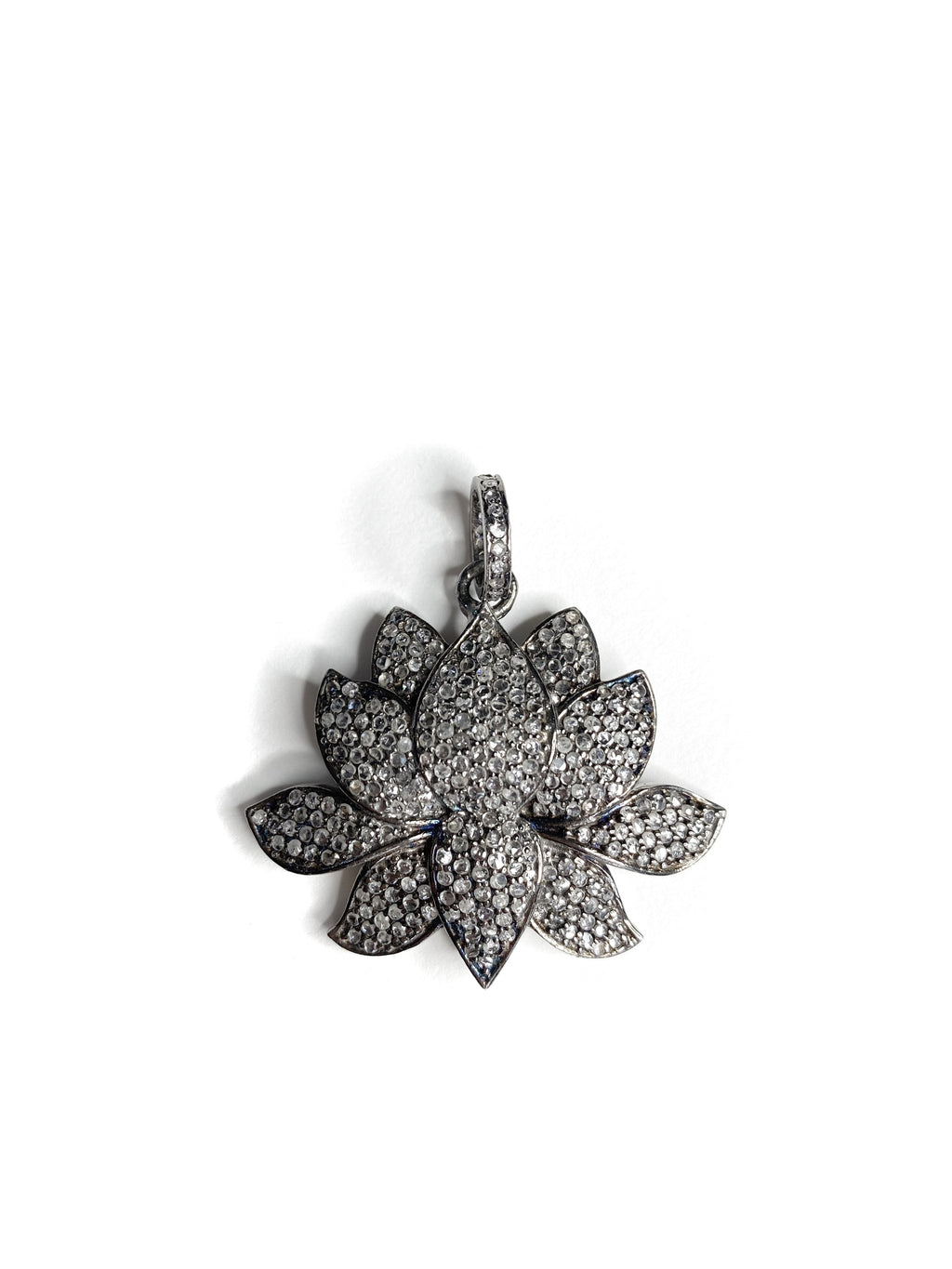 Pave Diamond Large Lotus Flower