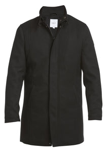 Stand Up Collar Coat i Svart