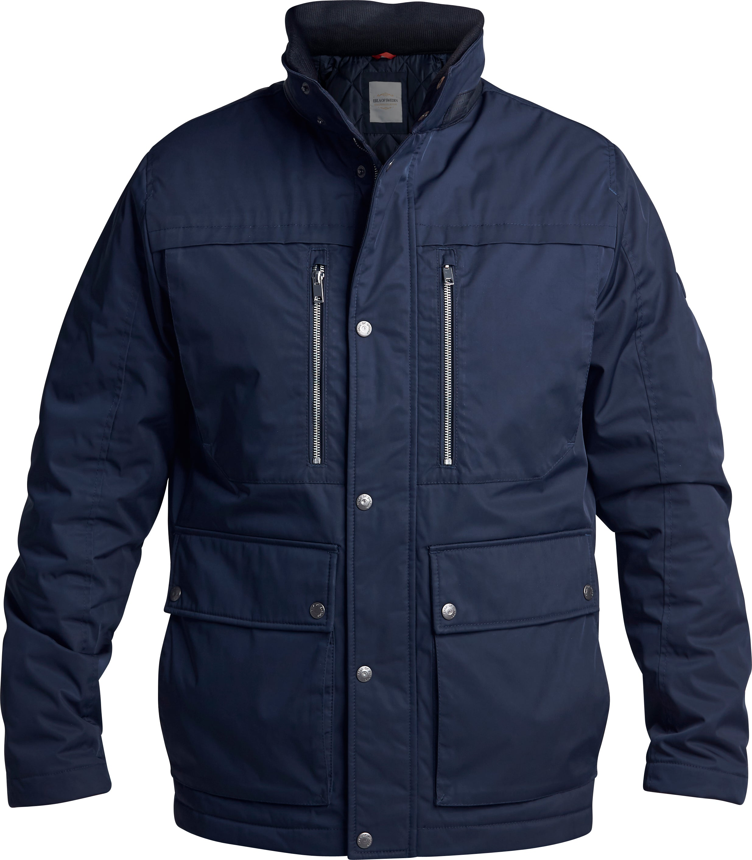Fodrad Field jacket i Marint