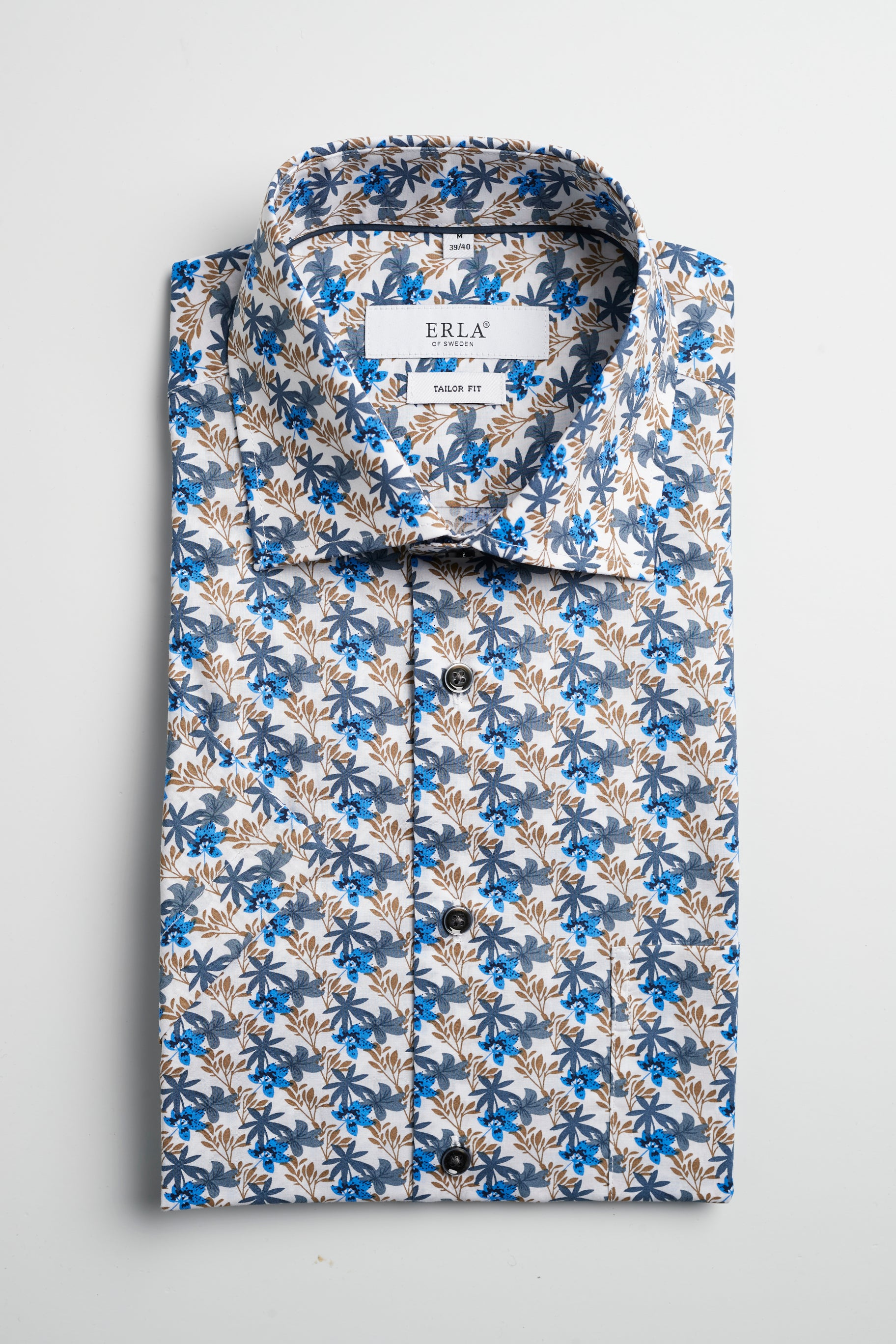 Biege Flowerprinted Shirt Short Sleeve