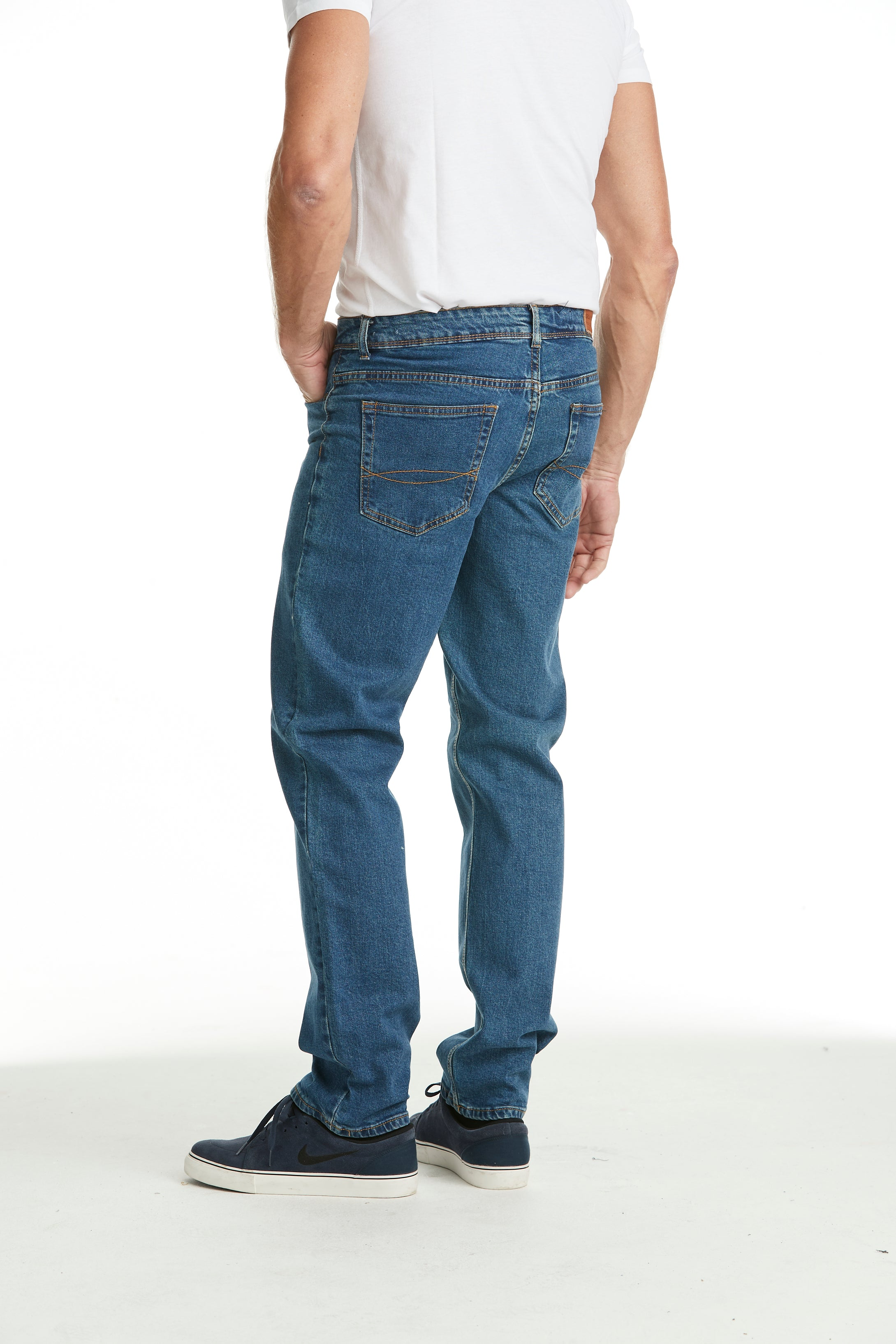 Herrjeans med stretch