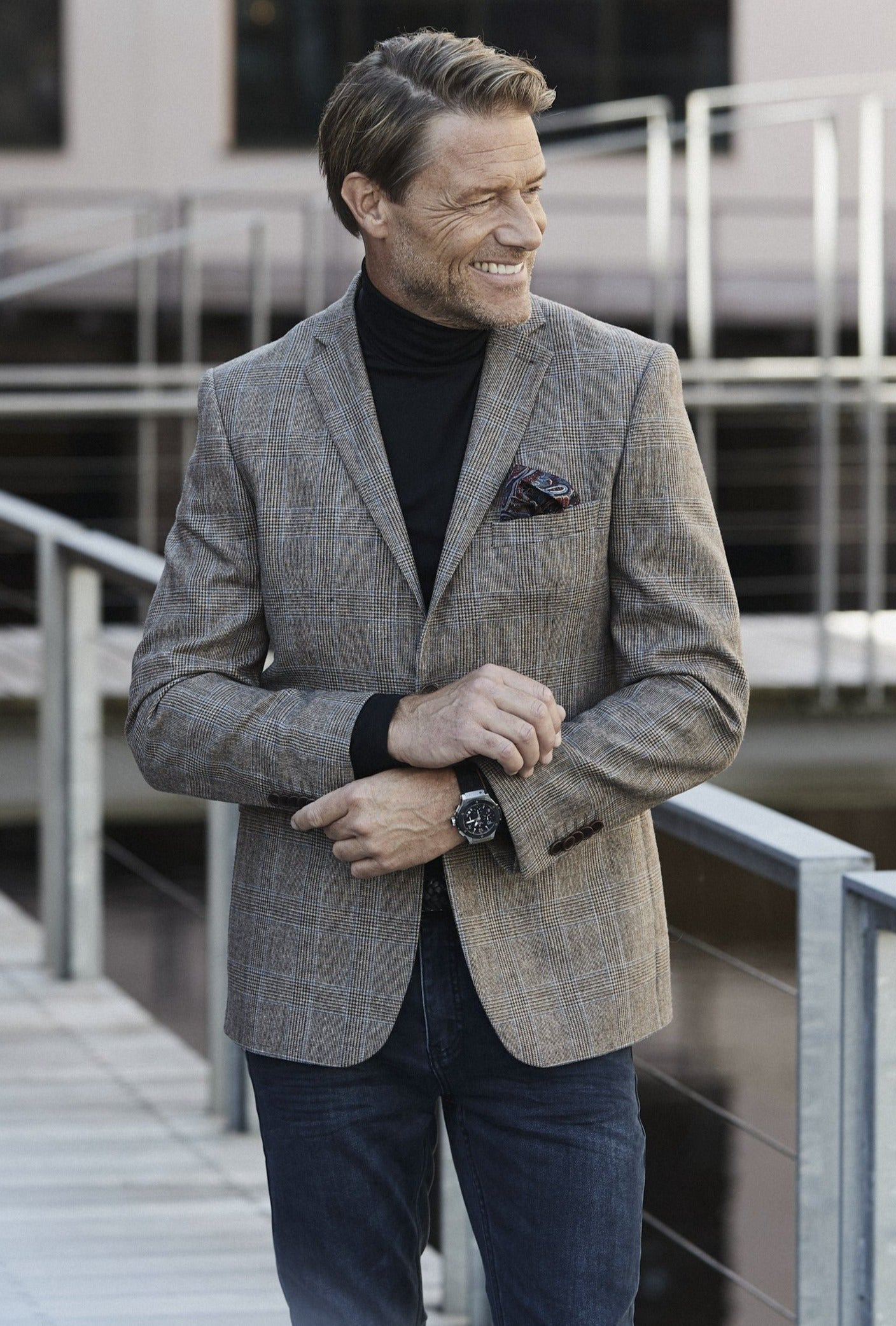 Royal Wool Checked Blazer