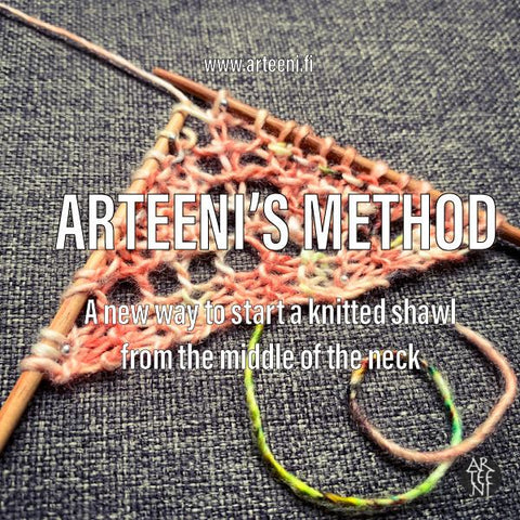 Arteeni's method - new way to start a knitted shawl from the middle of the neck