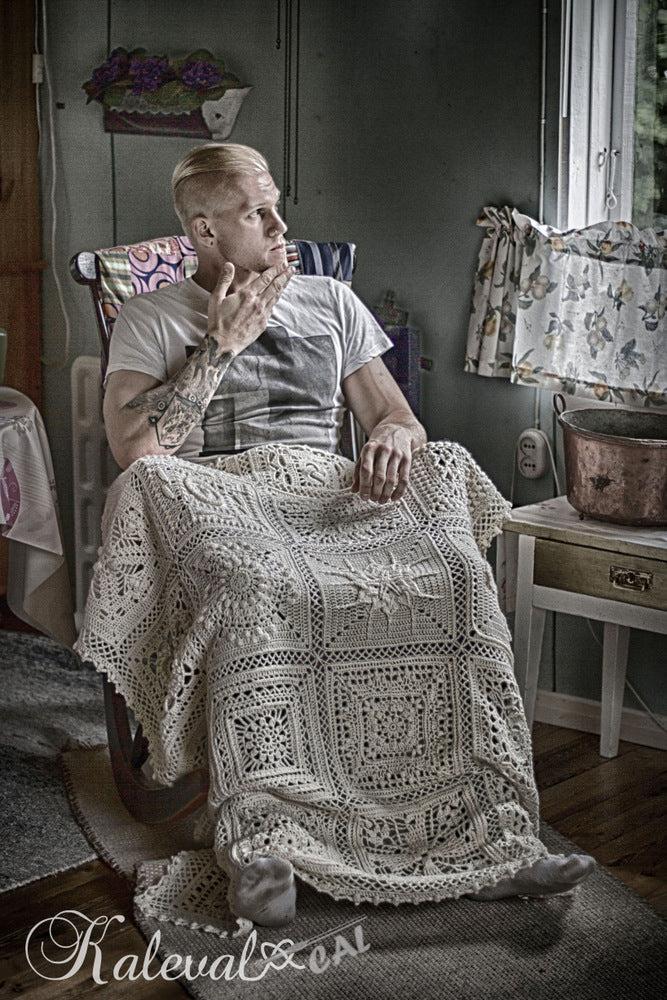 Kalevala CAL - Roope and blanket in a rocking chair