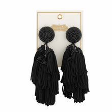 Load image into Gallery viewer, Tiered Tassel Earrings