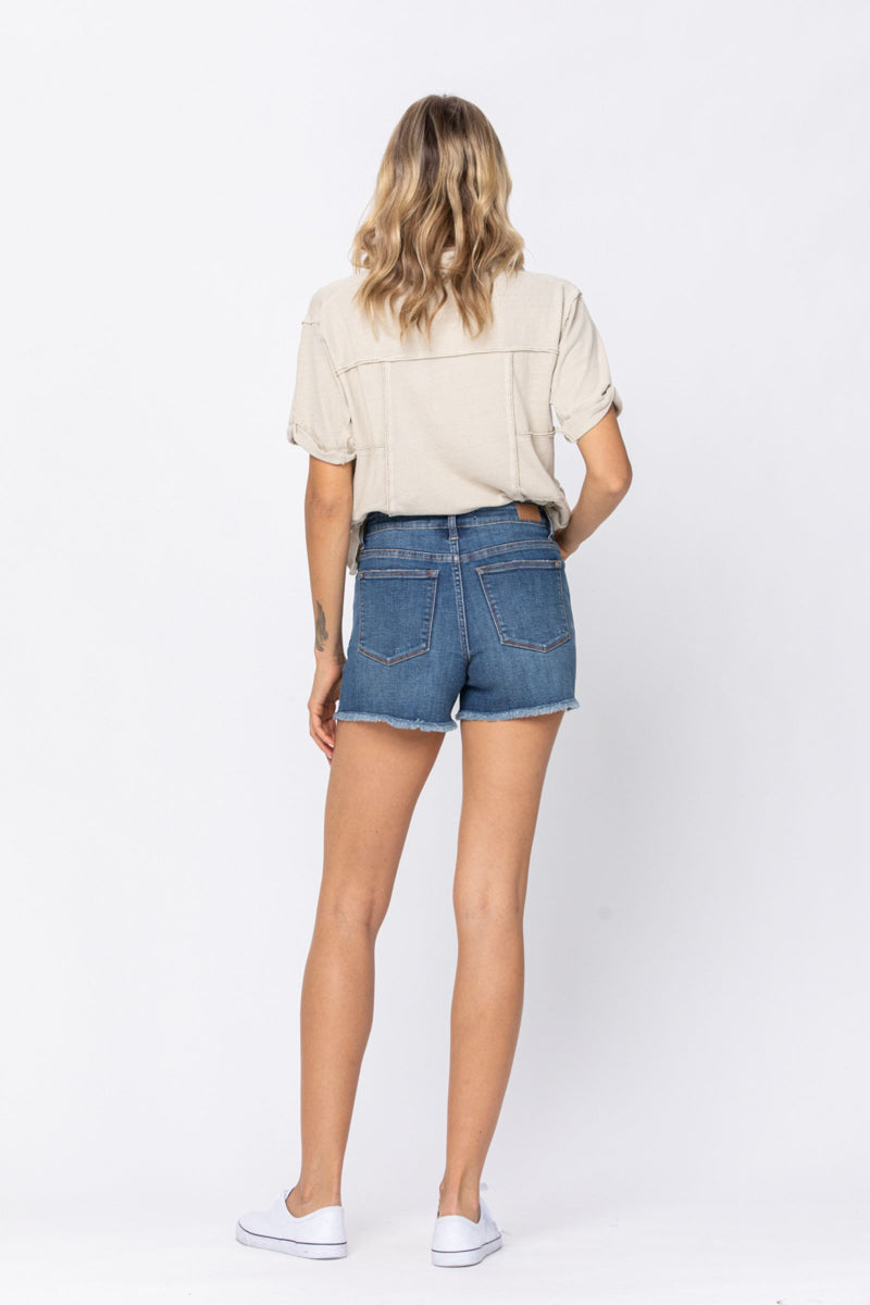 Judy Blue Destroyed Cut-Off Shorts