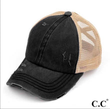 Load image into Gallery viewer, C.C. Criss Corss Ponytail Cap (Black)