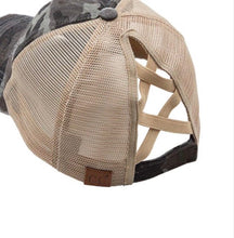 Load image into Gallery viewer, C.C Criss Cross Pony Cap (Camo)