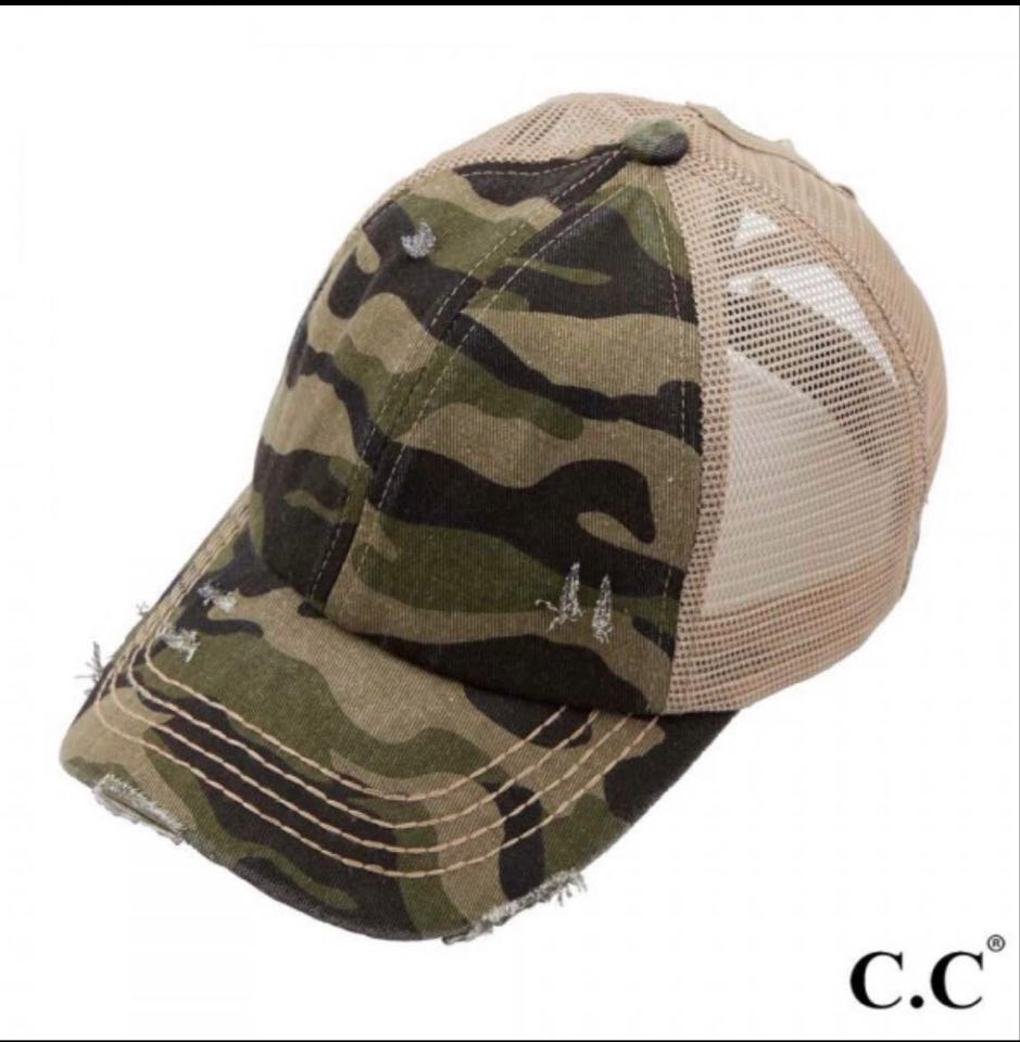 C.C Criss Cross Pony Cap (Camo)