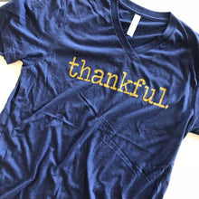 Load image into Gallery viewer, Thankful Gold Metallic Tee