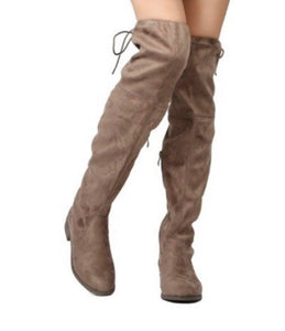 Taupe Suede Knee High's