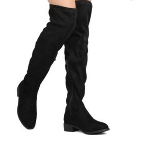 Black Suede Knee High's