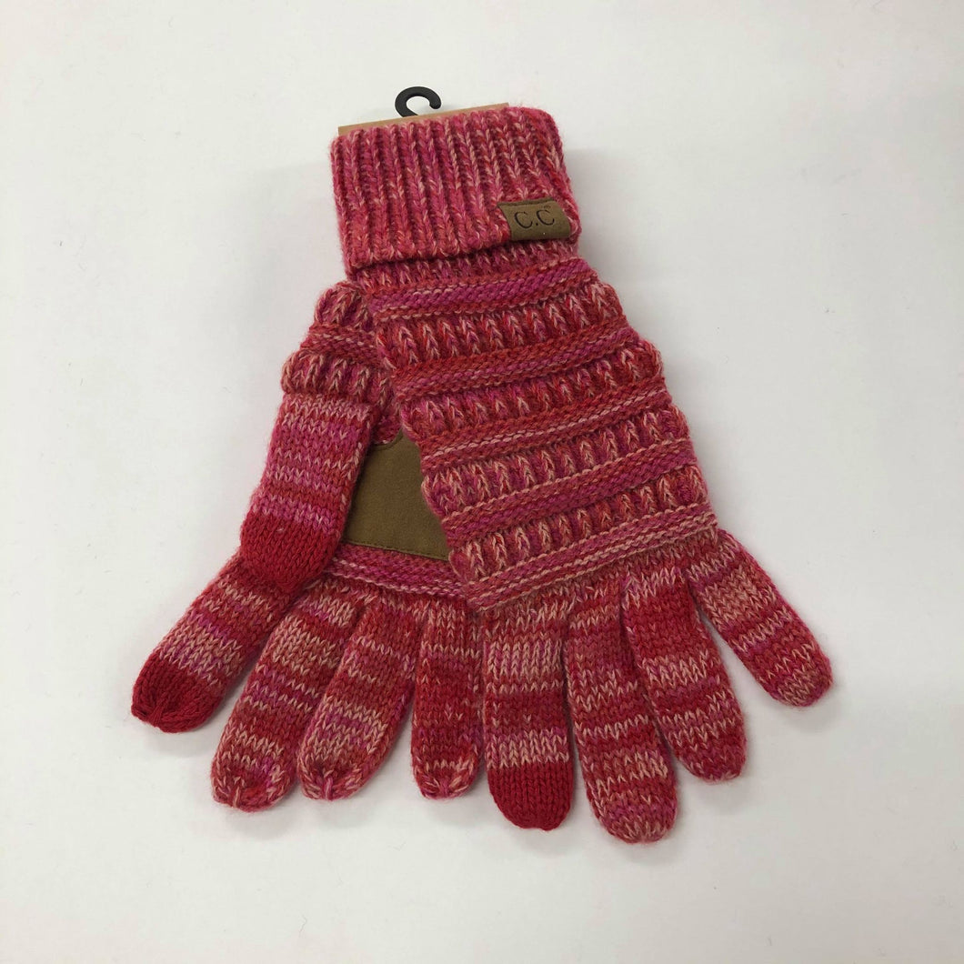 CC Red Swirl Gloves