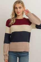 Load image into Gallery viewer, Color Block Cuff Sleeve Sweater