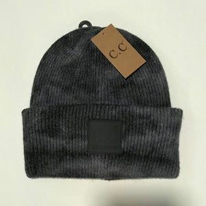 CC Tie Dye Beanie with Patch Navy