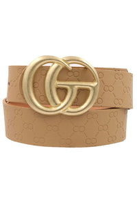 Taupe Faux Leather Belt
