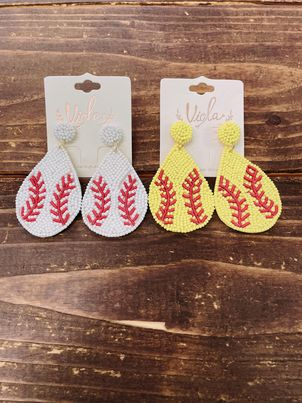 Baseball/Softball Seed Earrings