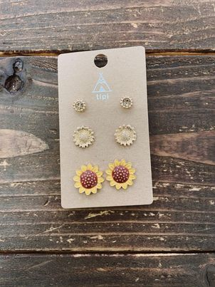 Sunflower Stud Earring Set