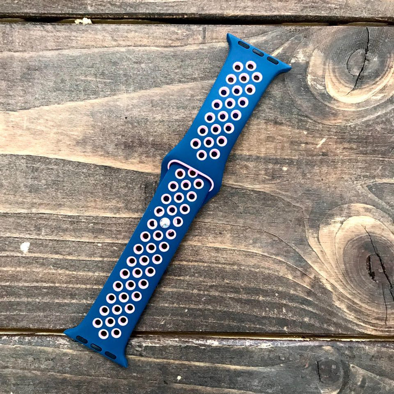 Navy/Pink Apple Watch Band