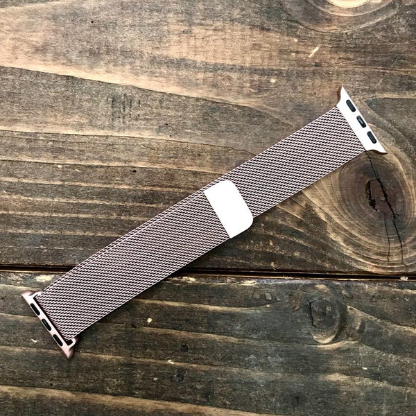 Rose Gold Mesh Apple Watch Band