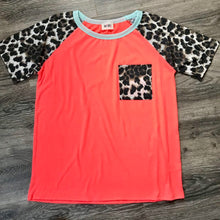 Load image into Gallery viewer, Neon Coral Leopard Top