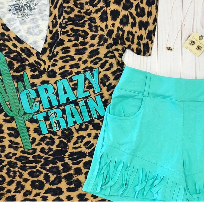 Crazy Train Leopard Tee