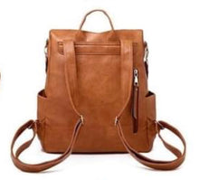 Load image into Gallery viewer, Camel Backpack Purse