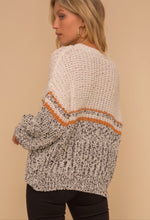 Load image into Gallery viewer, Color Block Low Gauge Sweater